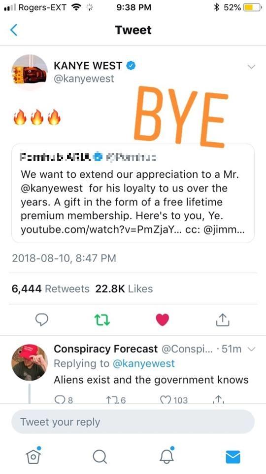 """Kanye West nhận ngay thẻ vip xem """"phim khiêu dâm"""" trọn đời sau khi làm điều này"""