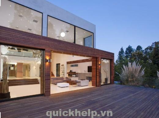 cửa kính cho ngôi nhà sáng đẹp